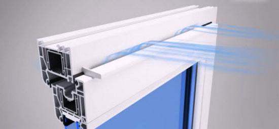 Вентиляционный приточный клапан для пластиковых окон