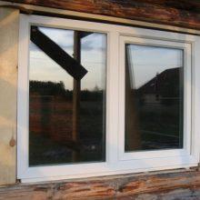 Как вставить окна в сруб