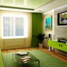 Какие шторы подойдут к зеленым обоям